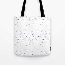 Dandelion Seeds Asexual Pride (white background) Tote Bag