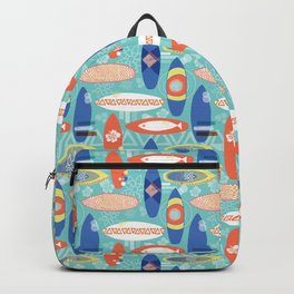 Vintage Surfboards Pattern Backpack