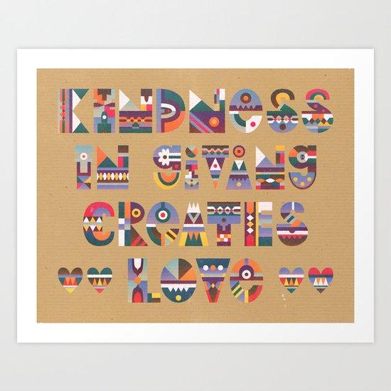Kindness Art Print