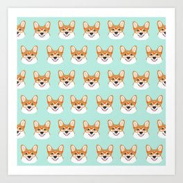 Corgi glasses cute funny dog gifts for welsh corgi dog breed owners must haves by pet friendly Art Print