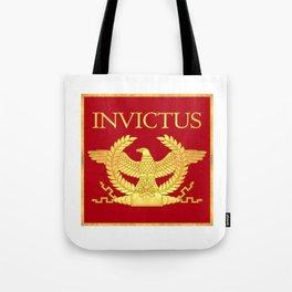 Invictus Eagle on Red Tote Bag