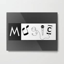 Musical word Metal Print