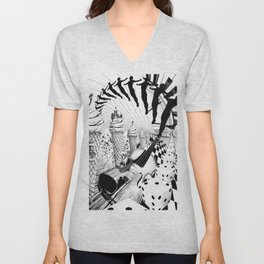 PLEASE, COME IN CONTACT OUR PLANET EARTH Unisex V-Neck
