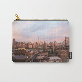 Manhattan City Skyline from Queens at Sunrise Carry-All Pouch