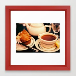 Jordan Pond Tea Framed Art Print