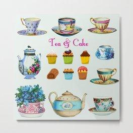 Tea & Cake Metal Print