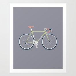 My Bike Green Art Print