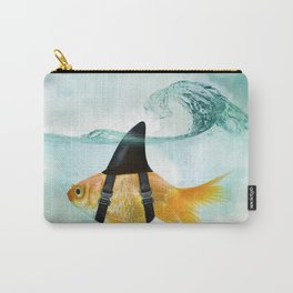 Goldfish with a Shark Fin, wave Carry-All Pouch