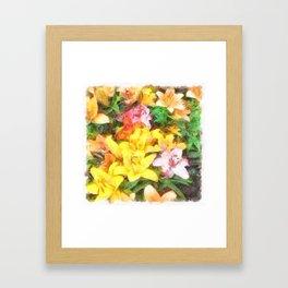 Lilies Love and Light Framed Art Print