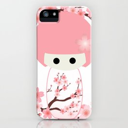 Sakura Kokeshi iPhone Case
