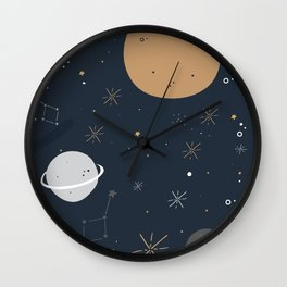The Moon and the Stars Wall Clock