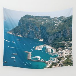 Italy, Capri Landscape View Wall Tapestry