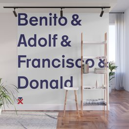 Trump. Not my pres. Names. Wall Mural