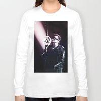 u2 Long Sleeve T-shirts featuring U2 / Bono 4 by JR van Kampen