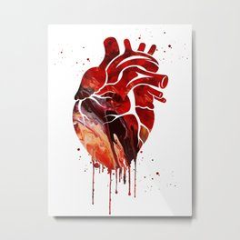Human Heart Metal Print