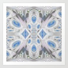 Magical Crystal Candies in Blue Art Print