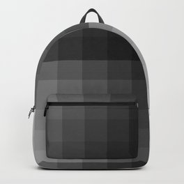 Value scale ..black , white  and grays Backpack