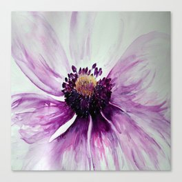 Sweet Anemone of Purple watercolor by CheyAnne Sexton Canvas Print
