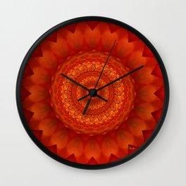 Muladhara chakra mandala Wall Clock