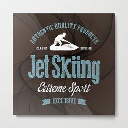 Jet Skiing Extreme Sport Metal Print
