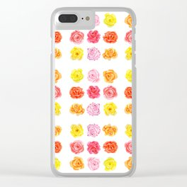 9 watercolor roses Clear iPhone Case