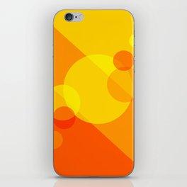 Orange Spheres Abstract iPhone Skin