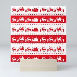 Christmas Parade - (Red) Mini Art Print