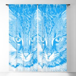 savannah cat portrait vawb Blackout Curtain