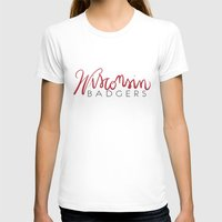 wisconsin T-shirts featuring Wisconsin Badgers  by Niki Addie Creative Design Co.
