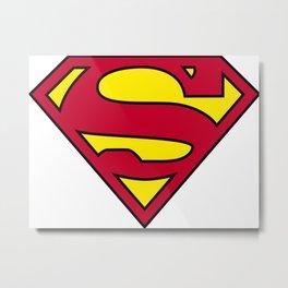Superman Logo PNG II Metal Print
