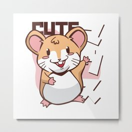 Cute Mice Hamster Mouse Animal Gift Metal Print