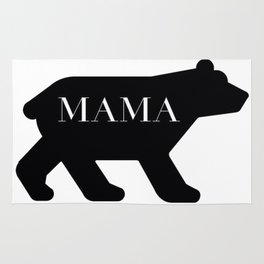 Mama Bear in Black Rug