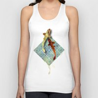 koi Tank Tops featuring Koi by Elsa Design