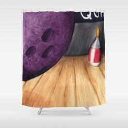 Bowling Pun Shower Curtain
