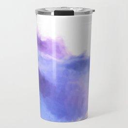 Purple Sky, White Light - abstract Travel Mug