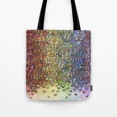 rainbow of butterflies aflutter Tote Bag