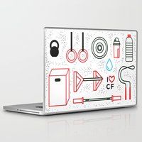 crossfit Laptop & iPad Skins featuring CrossFit Love by Golden Heart
