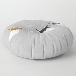 Kitty Road Floor Pillow