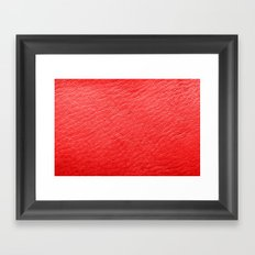 Leather Texture (Red) Framed Art Print