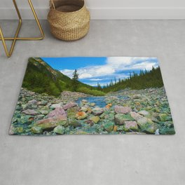 Geraldine Lakes Hike in Jasper National Park, Canada Rug