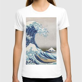 Under the Wave off Kanagawa - The Great Wave - Katsushika Hokusai T-shirt