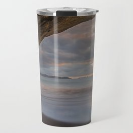 Dawn At Cathedral Cove 5 Travel Mug