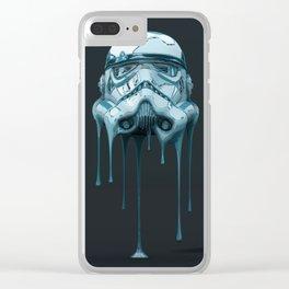 Stormtrooper Melting Dark Clear iPhone Case