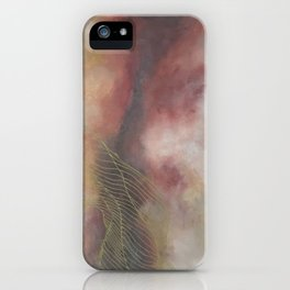 Golden Galaxy Tile iPhone Case