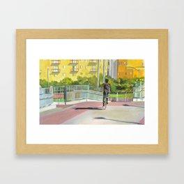 Austin Bike Trail Framed Art Print