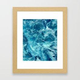 Ocean is shaking Framed Art Print