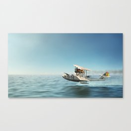 Sea Bird Ready For War Canvas Print