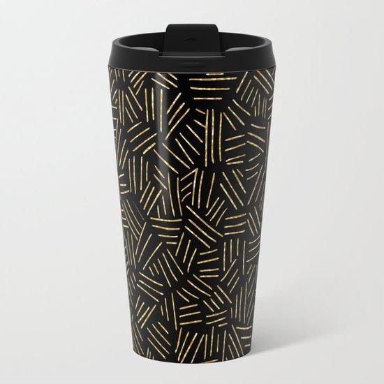 Gold Lines Travel Mug