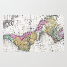 Vintage Map of North and South America (1746) Rug