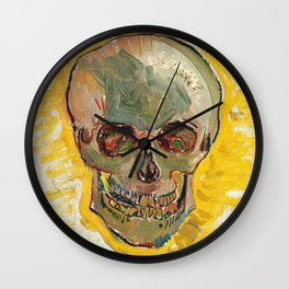 Skull by Vincent van Gogh, 1887 Wall Clock
